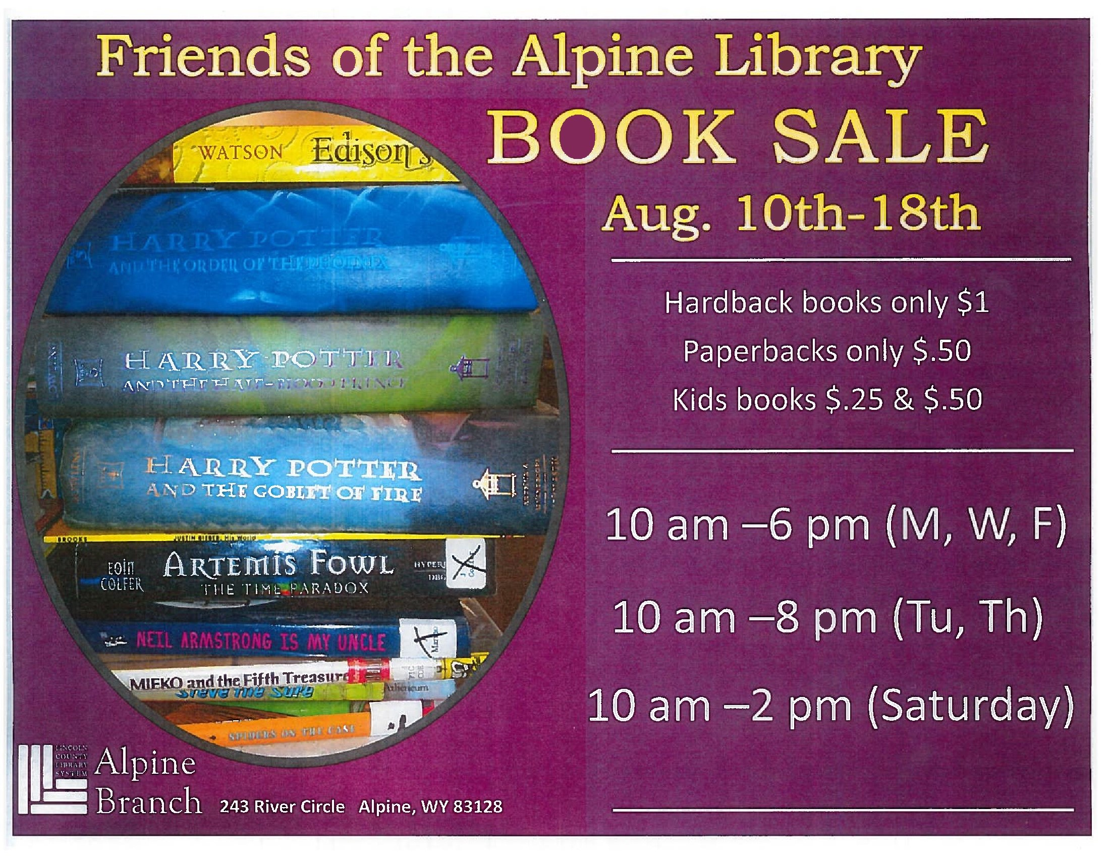 Alpine Library Book Sale @ Alpine Library