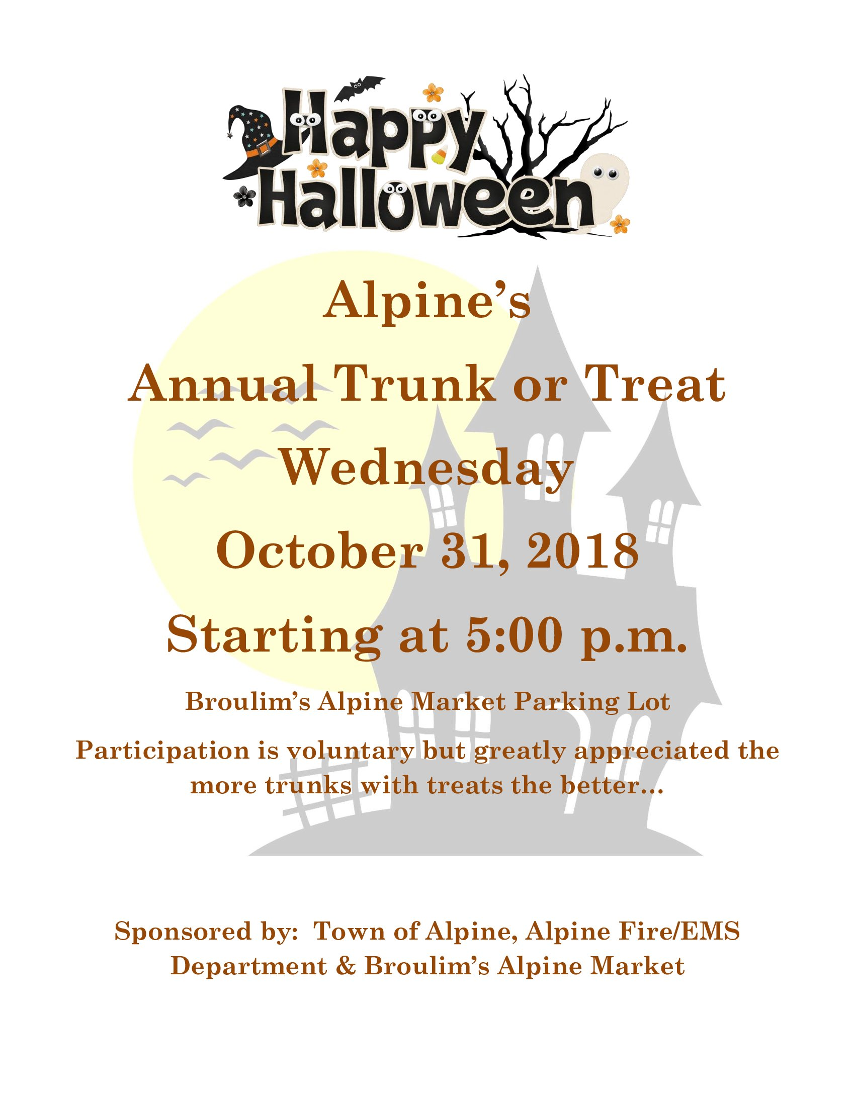 Trunk or Treat @ Alpine Market