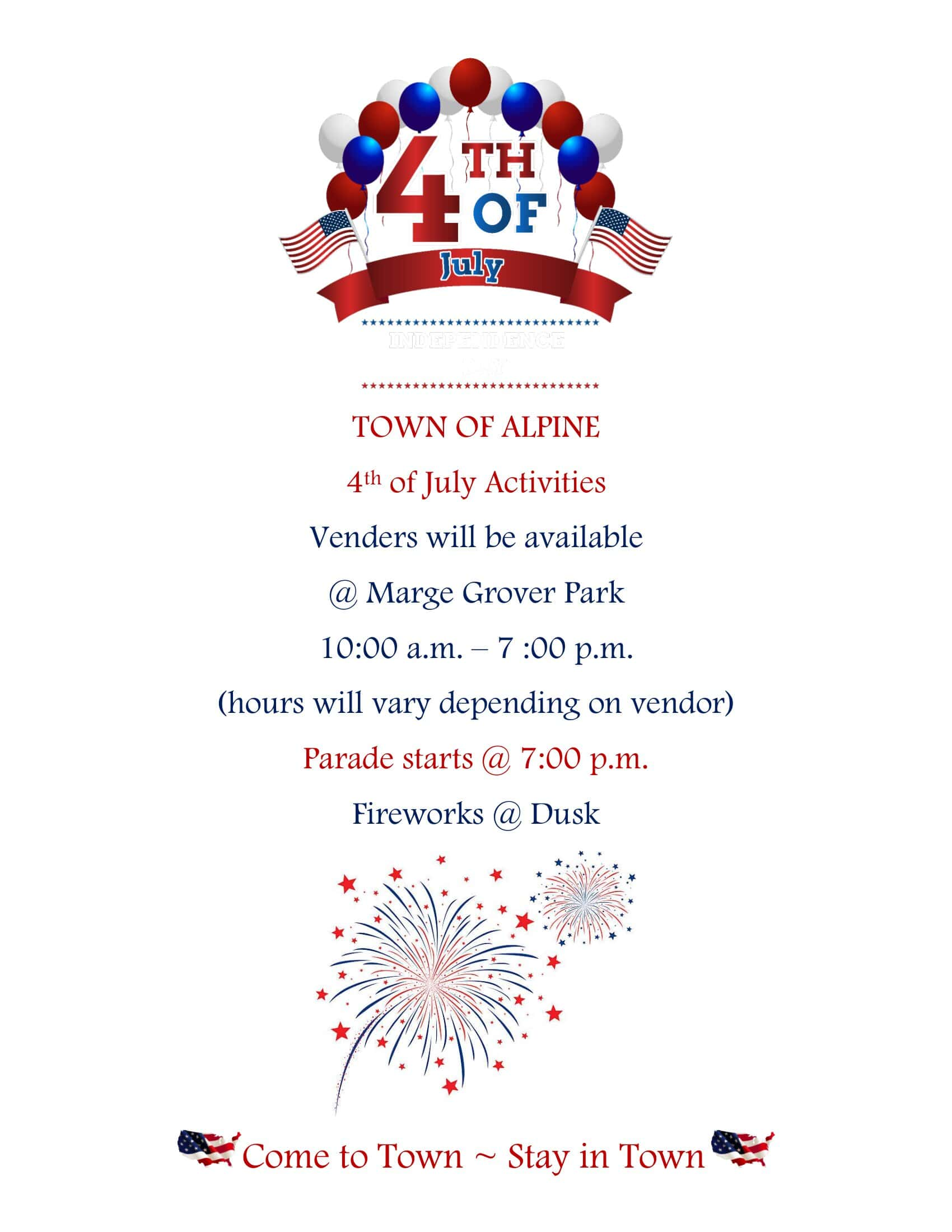 4th of July Events @ Town of Alpine
