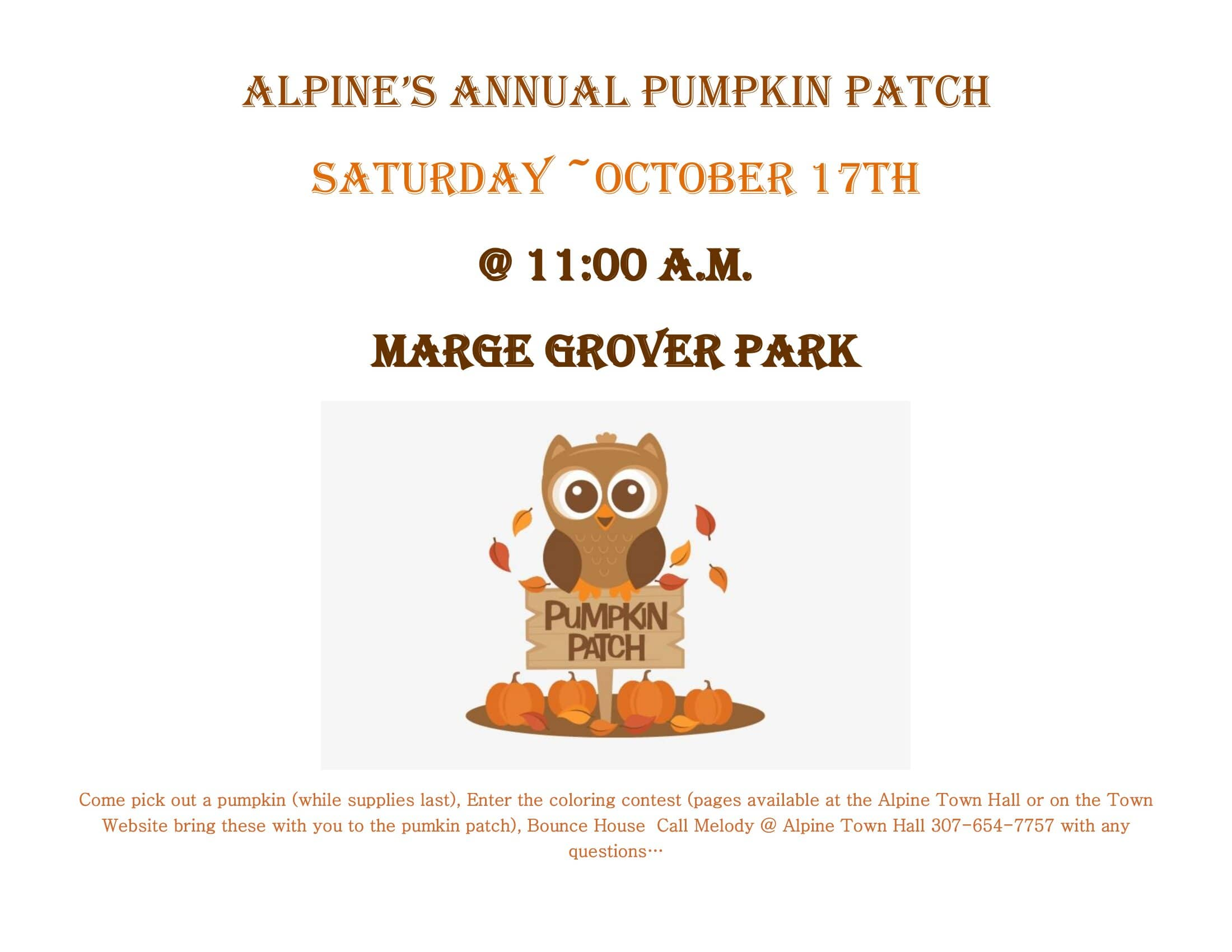 Alpine's Pumpkin Patch @ Alpine's Pumpkin Patch